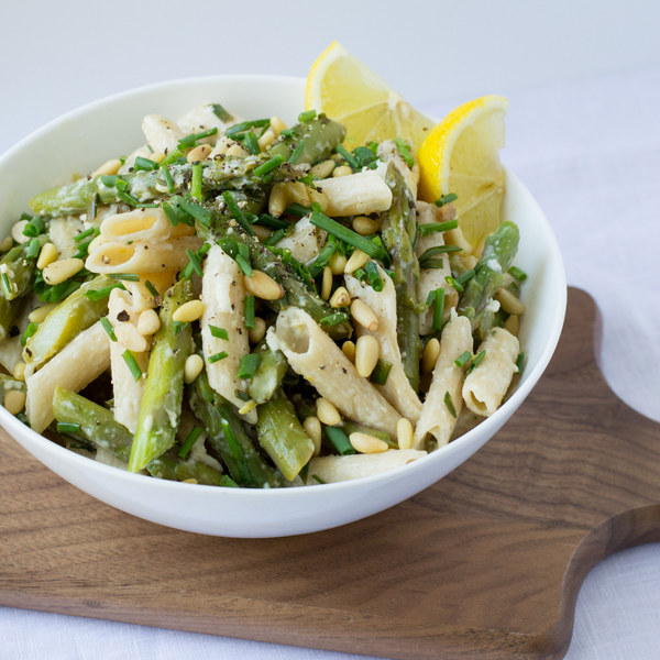 Recipe pasta asparagus goat cheese